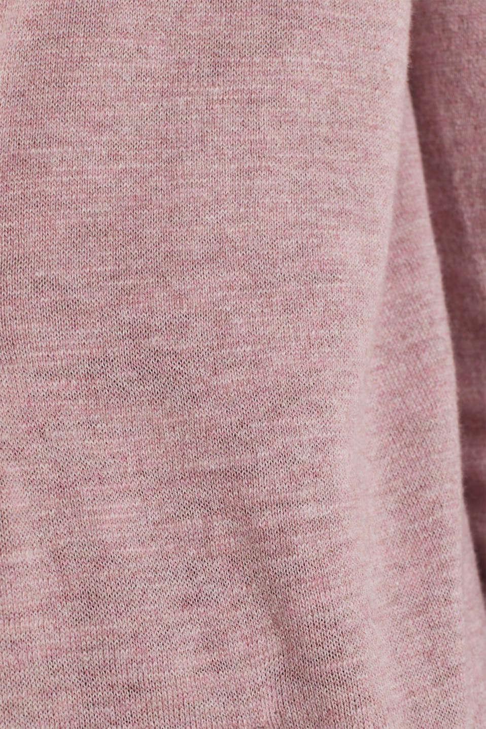 Cardigan, 100% cotton, MAUVE 5, detail image number 4