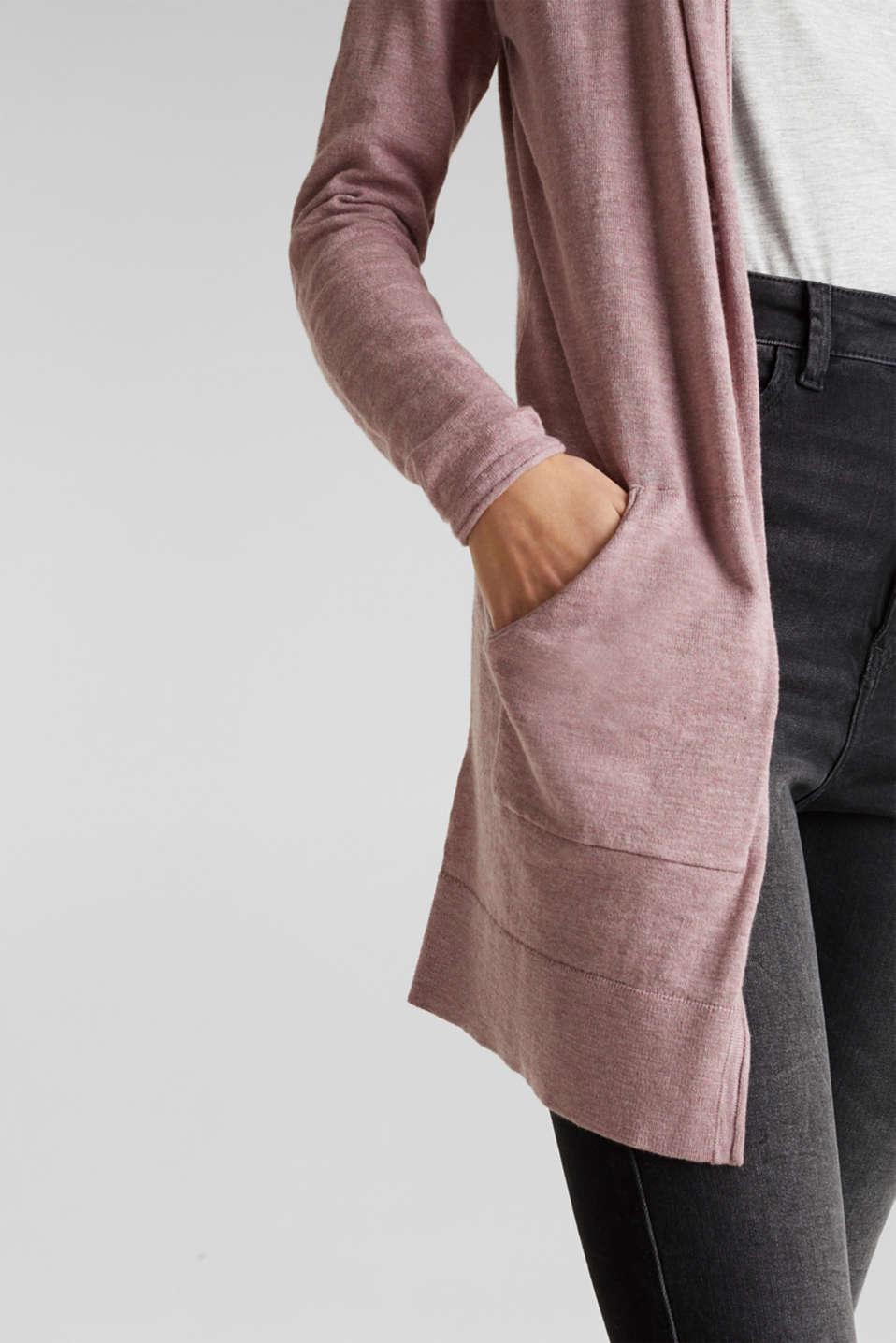 Cardigan, 100% cotton, MAUVE 5, detail image number 5