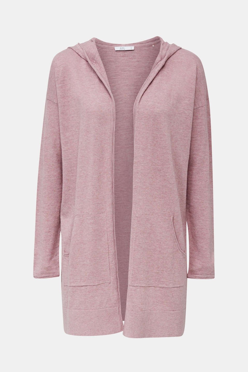 Cardigan, 100% cotton, MAUVE 5, detail image number 6