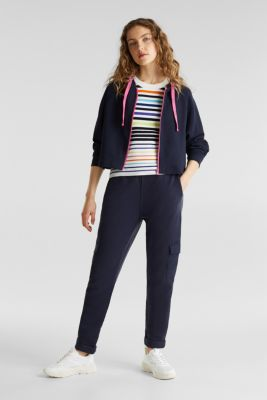 Cardigan, 100% cotton, NAVY, detail
