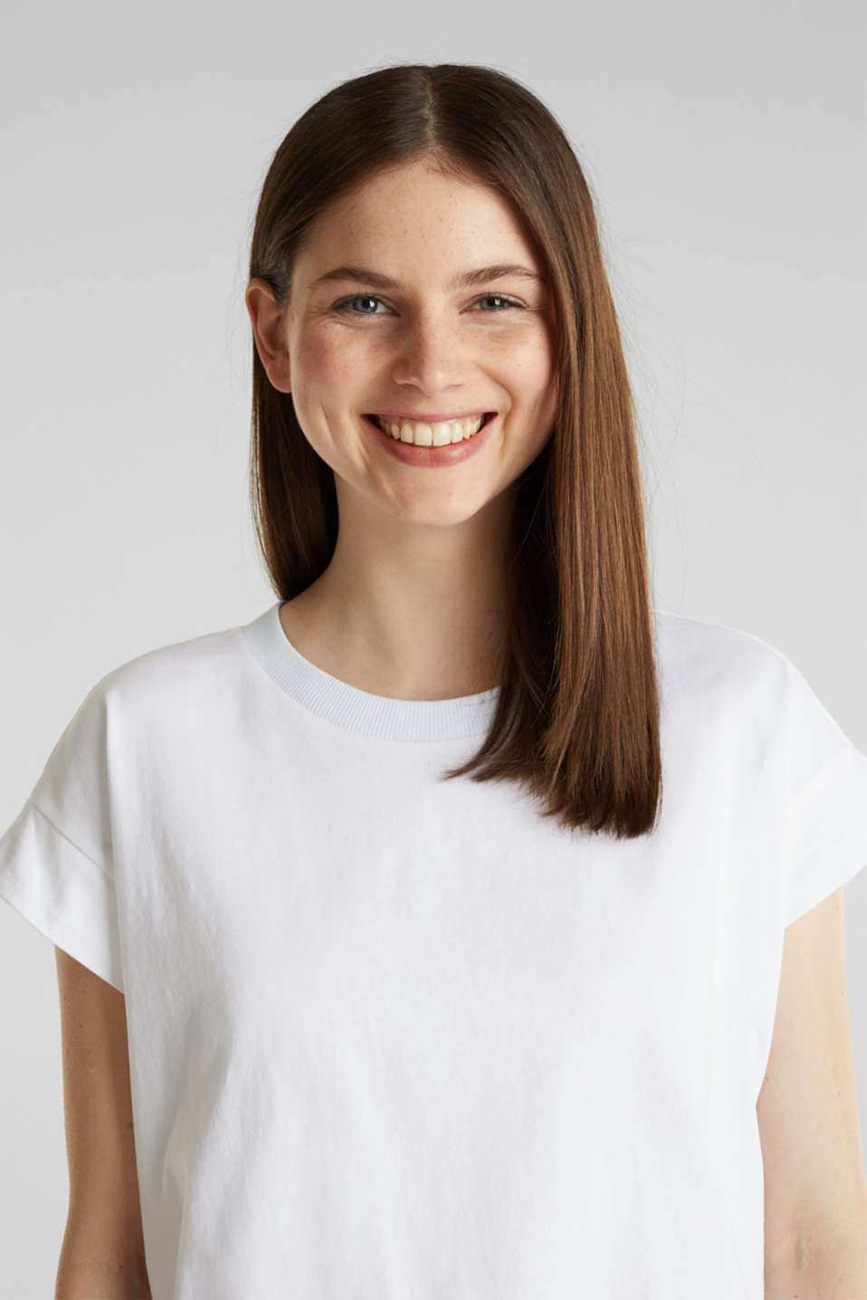 Loose-cut top, WHITE, detail image number 5