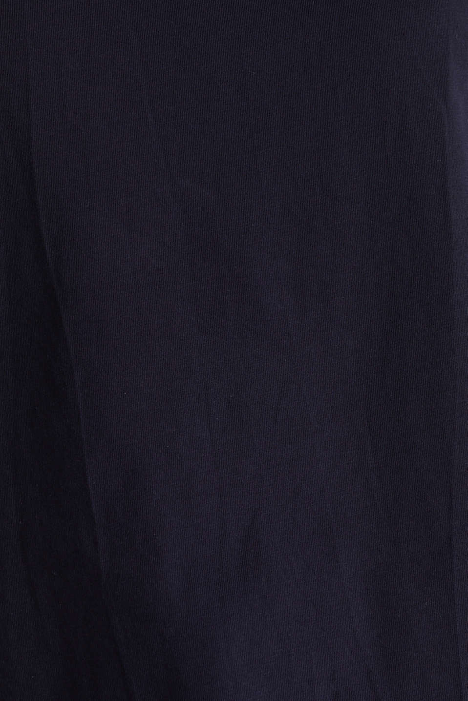 Loose-cut top, NAVY, detail image number 4