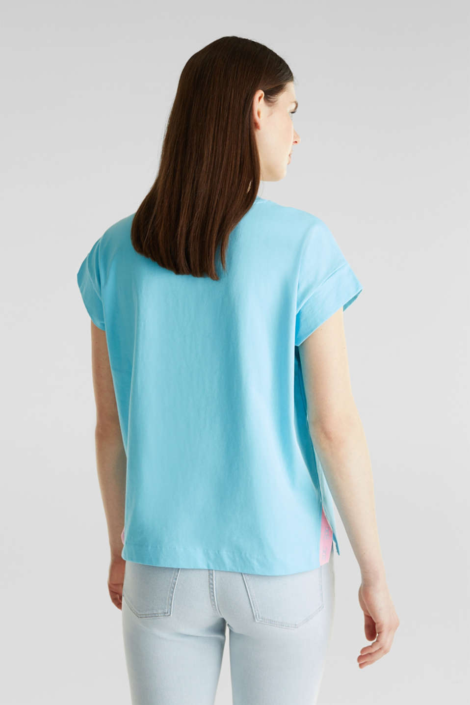 Loose-cut top, TURQUOISE, detail image number 2