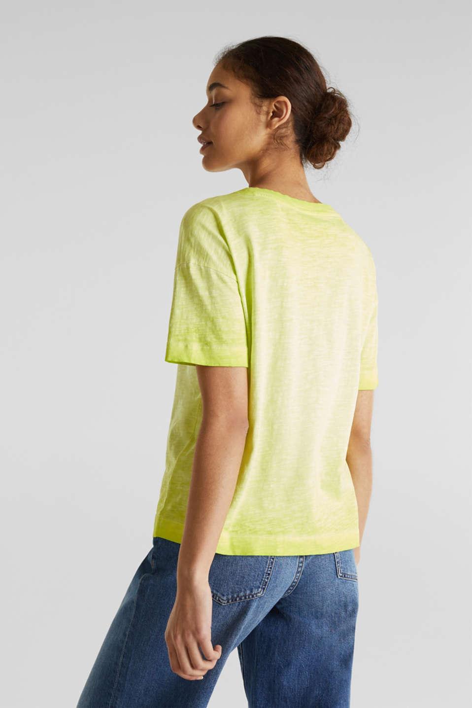 Graduated colour T-shirt, 100% cotton, CITRUS GREEN, detail image number 2