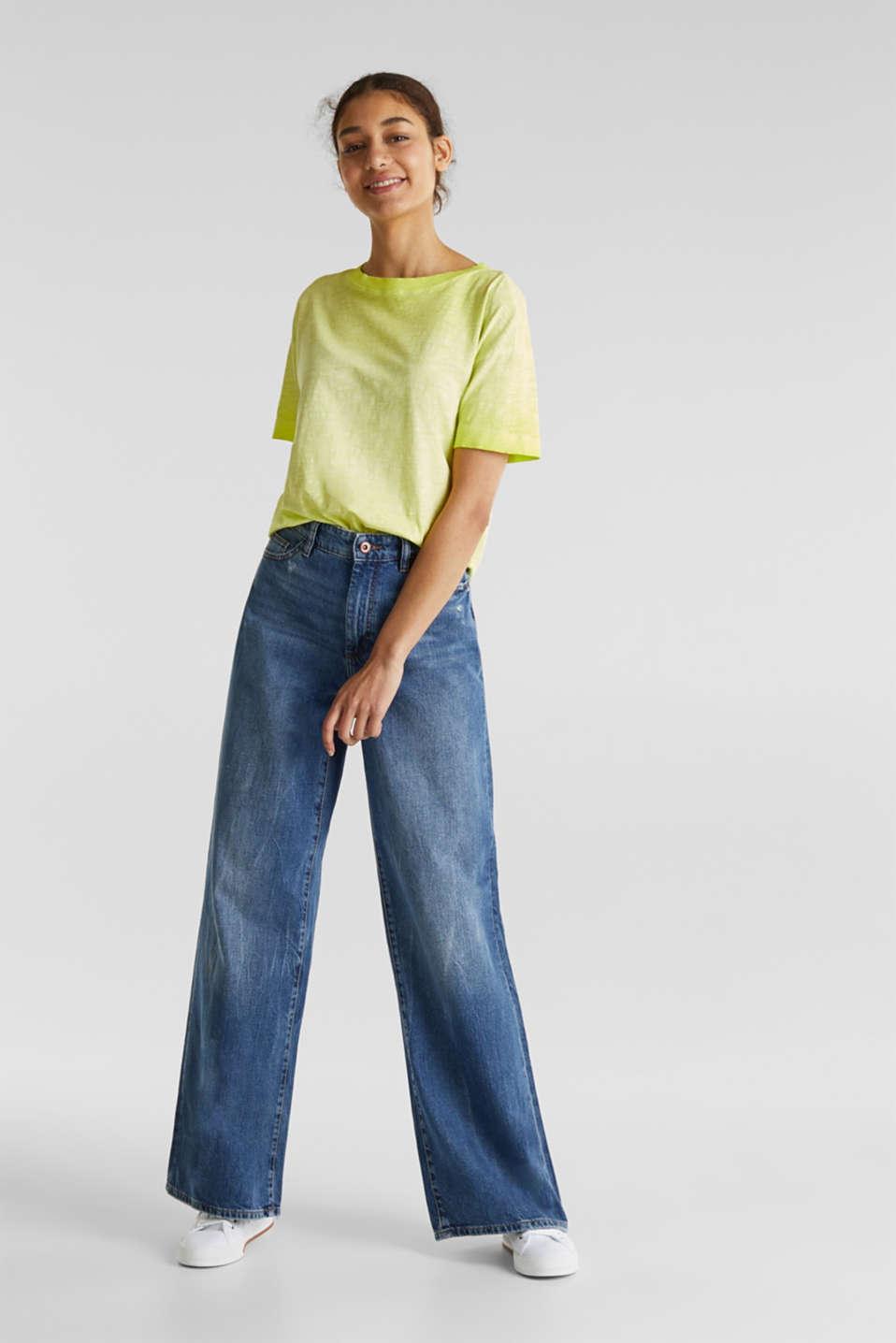 Graduated colour T-shirt, 100% cotton, CITRUS GREEN, detail image number 4