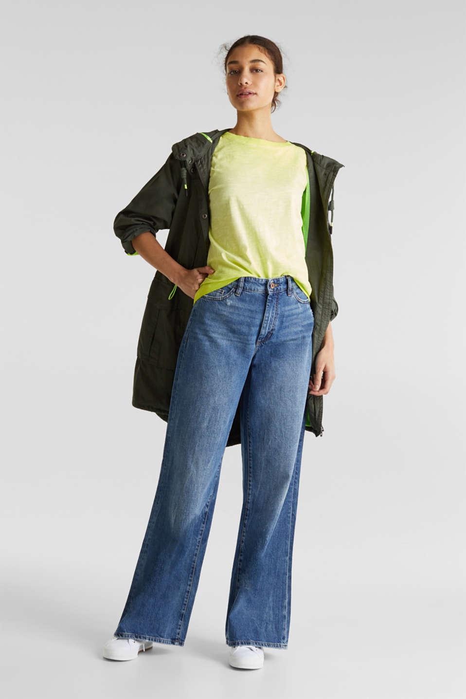 Graduated colour T-shirt, 100% cotton, CITRUS GREEN, detail image number 1