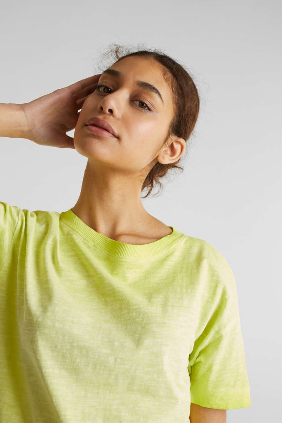 Graduated colour T-shirt, 100% cotton, CITRUS GREEN, detail image number 5