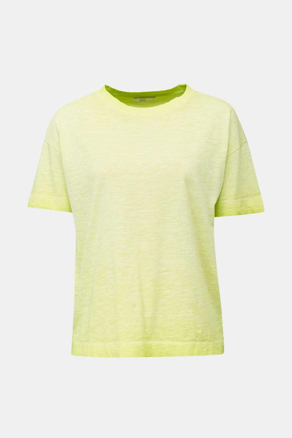 Graduated colour T-shirt, 100% cotton, CITRUS GREEN, detail image number 6