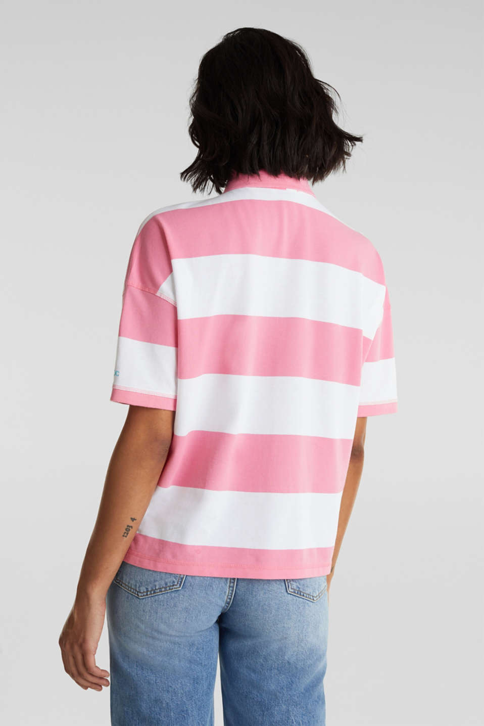 Polo shirt, 100% cotton, PINK, detail image number 3