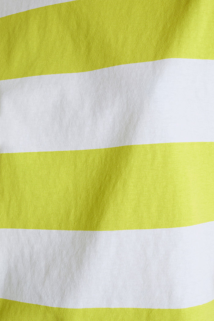 Shirt mit Blockstreifen, 100% Baumwolle, CITRUS GREEN, detail image number 4