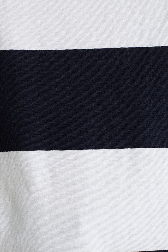 T-shirt with block stripes, 100% cotton, NAVY, detail image number 4
