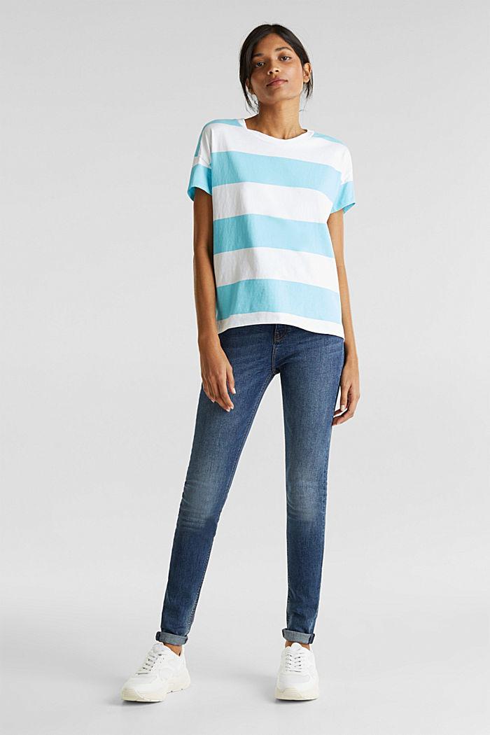 Shirt mit Blockstreifen, 100% Baumwolle, TURQUOISE, detail image number 5