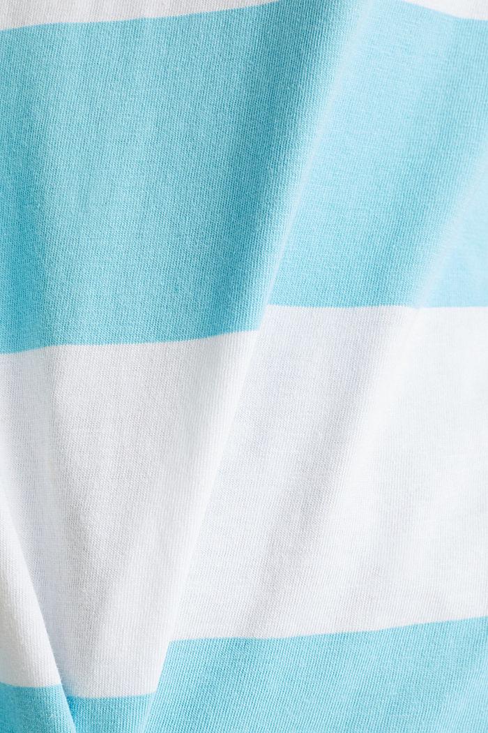Shirt mit Blockstreifen, 100% Baumwolle, TURQUOISE, detail image number 4