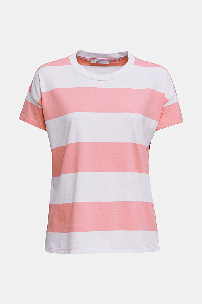 T-shirt with block stripes, 100% cotton, PINK, detail image number 6