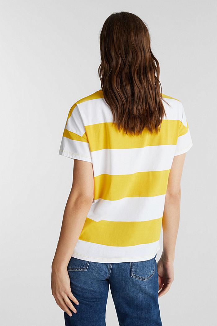 Shirt mit Blockstreifen, 100% Baumwolle, YELLOW, detail image number 3