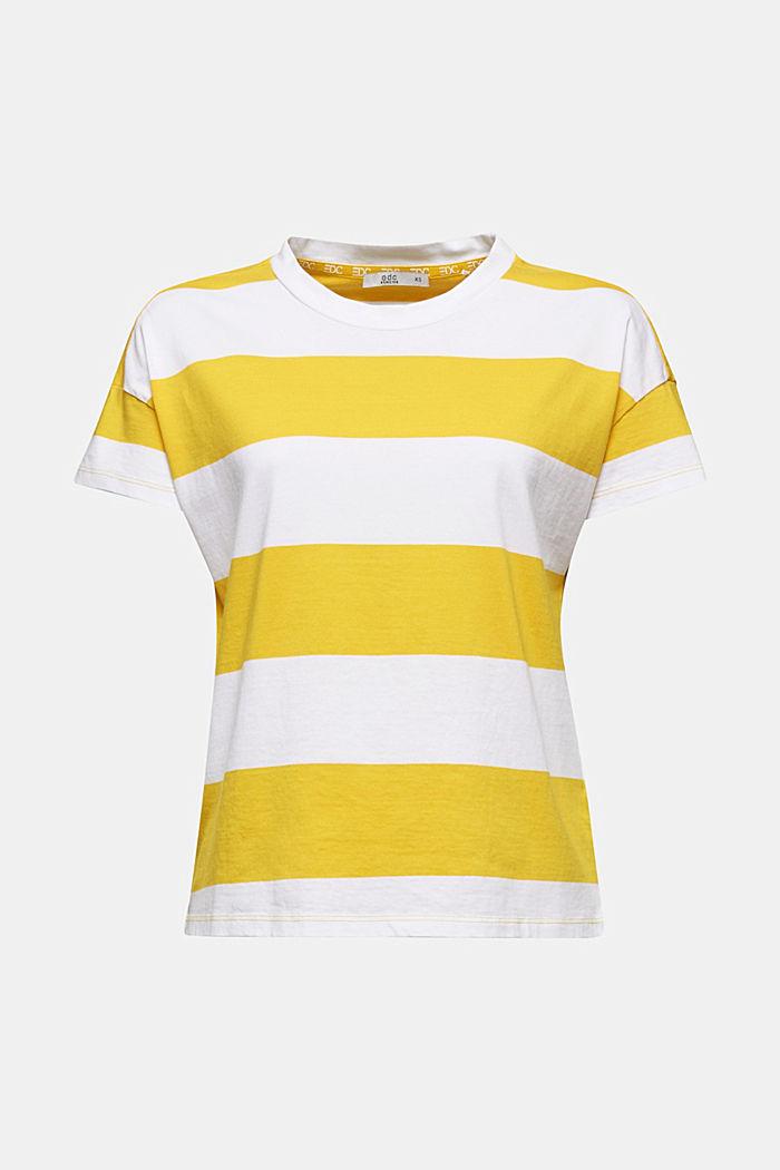 Shirt mit Blockstreifen, 100% Baumwolle, YELLOW, detail image number 5