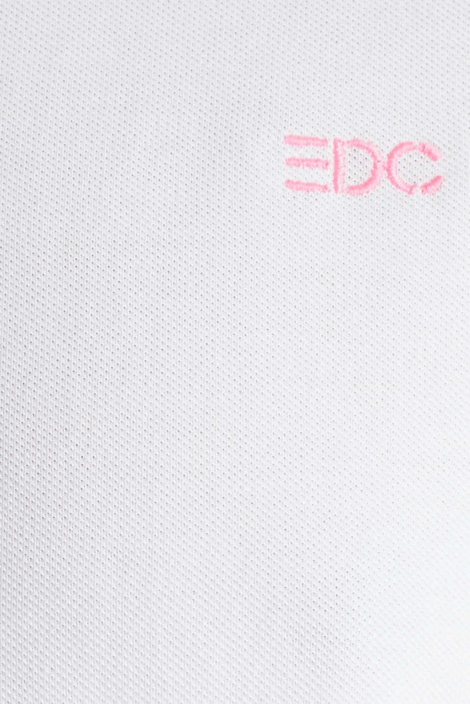 Piqué top, 100% cotton, WHITE, detail image number 4