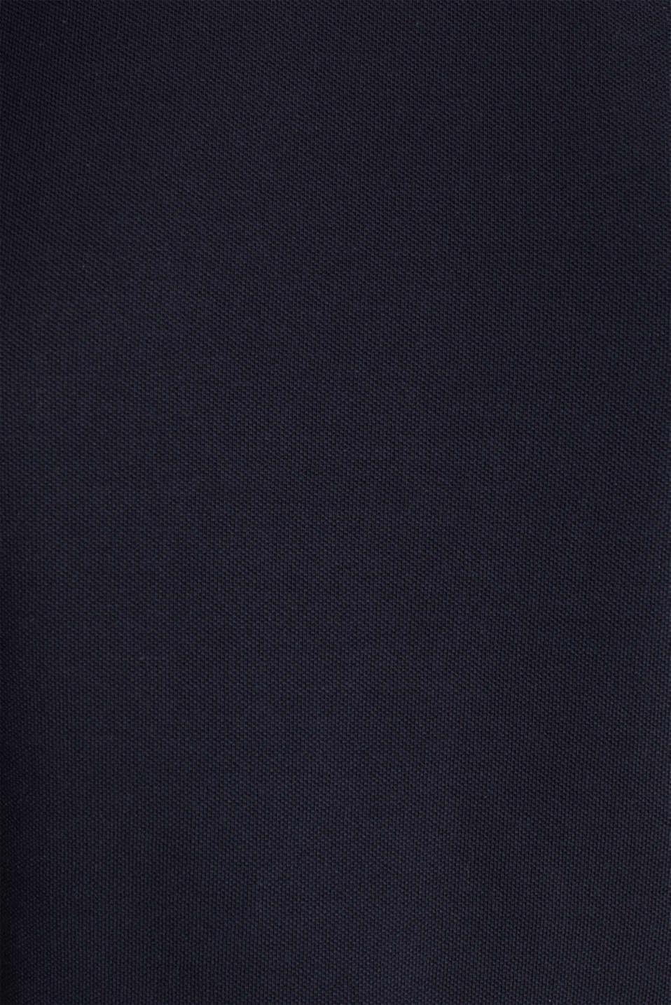 Piqué top, 100% cotton, NAVY, detail image number 3