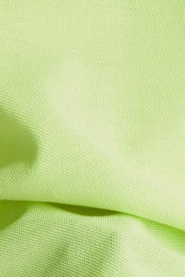 Piqué top, 100% cotton, LIME YELLOW, detail