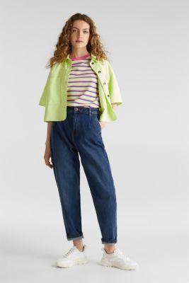 Piqué T-shirt in 100% cotton, PINK FUCHSIA, detail