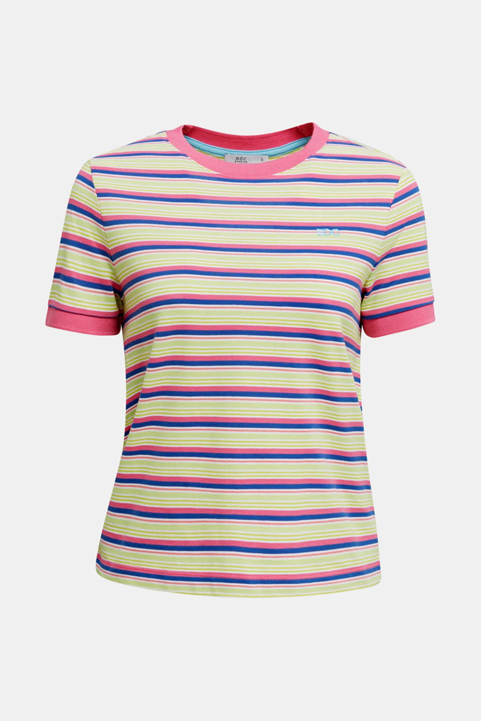 Piqué T-shirt in 100% cotton, PINK FUCHSIA, detail image number 6