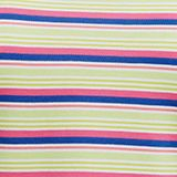 Striped piqué T-shirt, 100% cotton, PINK FUCHSIA, swatch