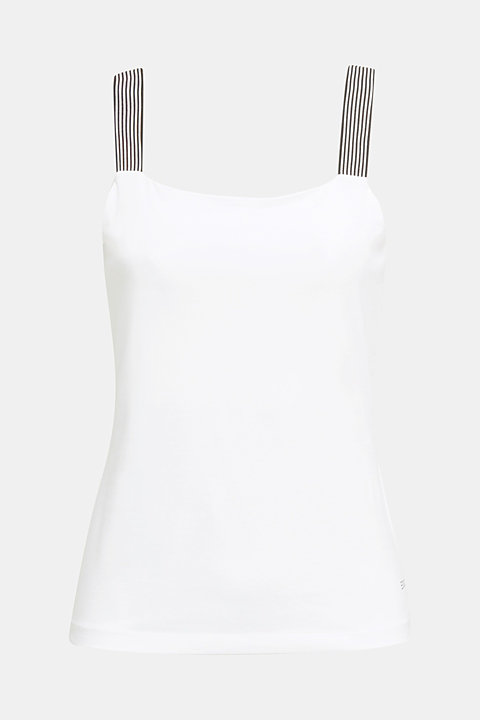 Stretch top with striped straps
