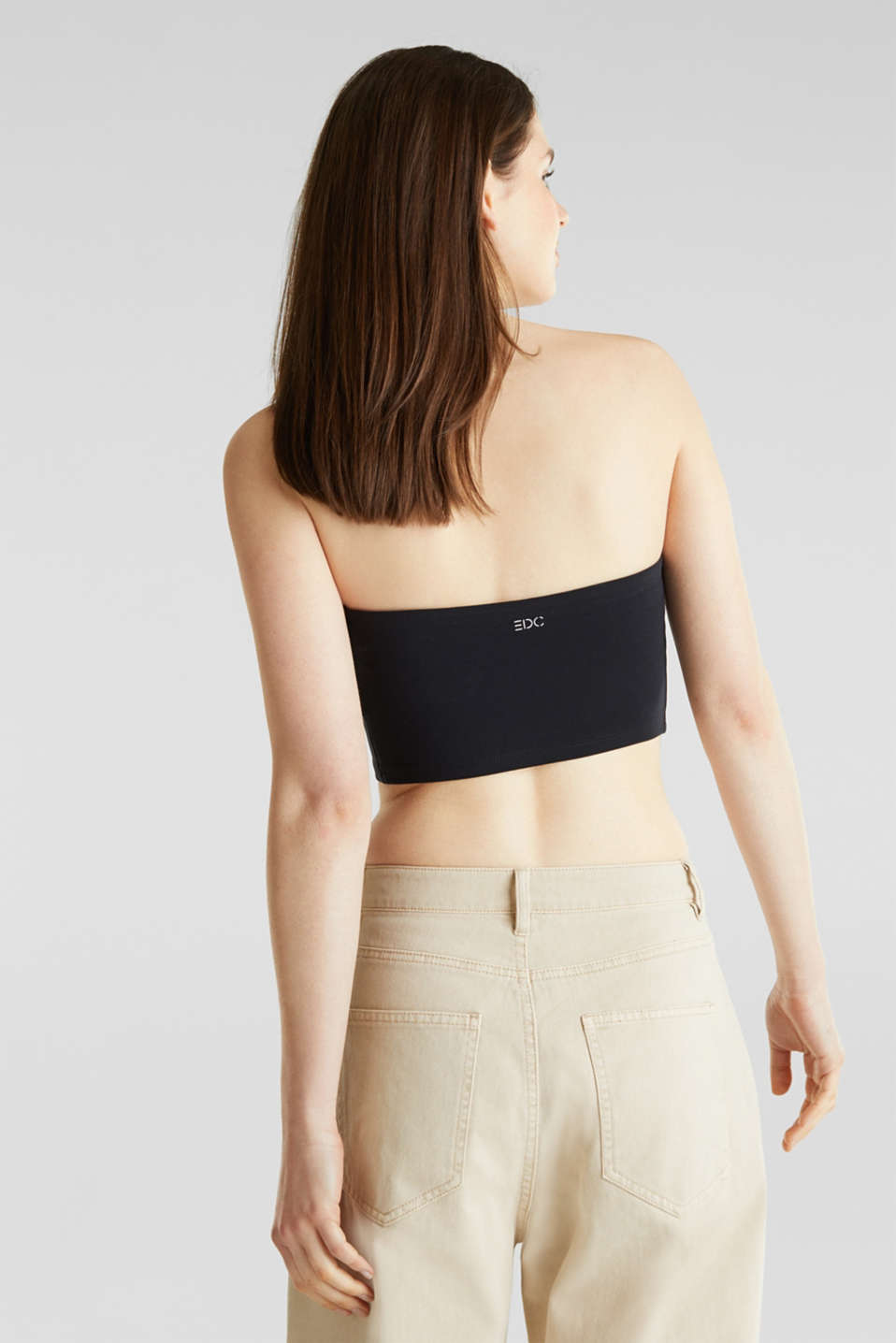 Stretch jersey bandeau top, BLACK, detail image number 2