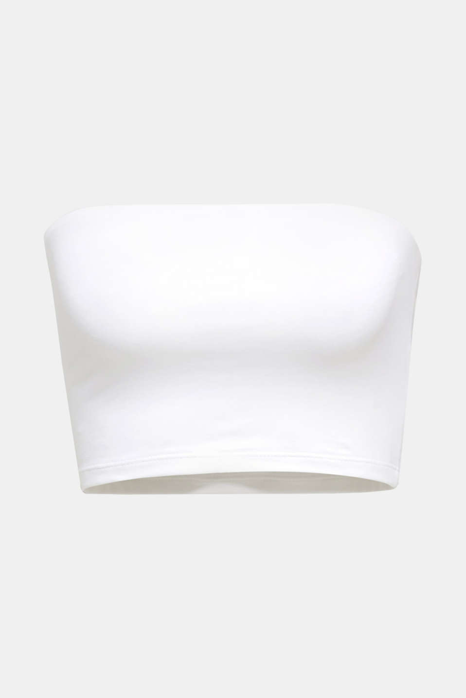 Stretch jersey bandeau top, WHITE, detail image number 7