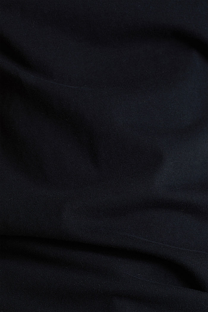 T-shirt in a washed look, 100% cotton, BLACK, detail image number 4