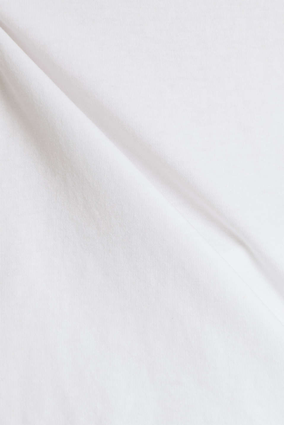 T-shirt in a washed look, 100% cotton, WHITE, detail image number 3