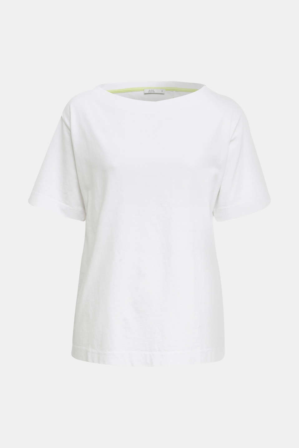 T-shirt in a washed look, 100% cotton, WHITE, detail image number 6