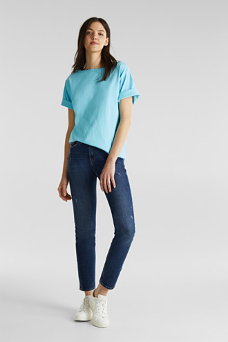 T-shirt in a washed look, 100% cotton