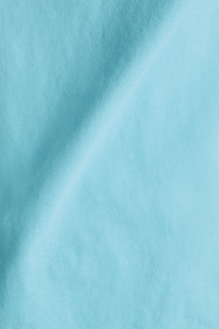 Shirt im Washed-Look, 100% Baumwolle, TURQUOISE, detail image number 4