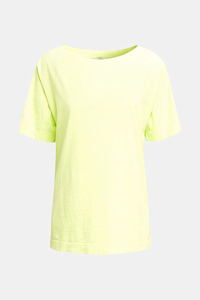 Shirt im Washed-Look, 100% Baumwolle, LIME YELLOW, detail image number 6