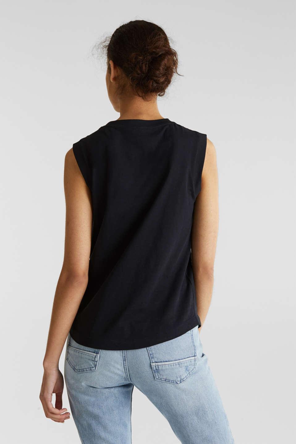 Top made of 100% organic cotton, BLACK, detail image number 3