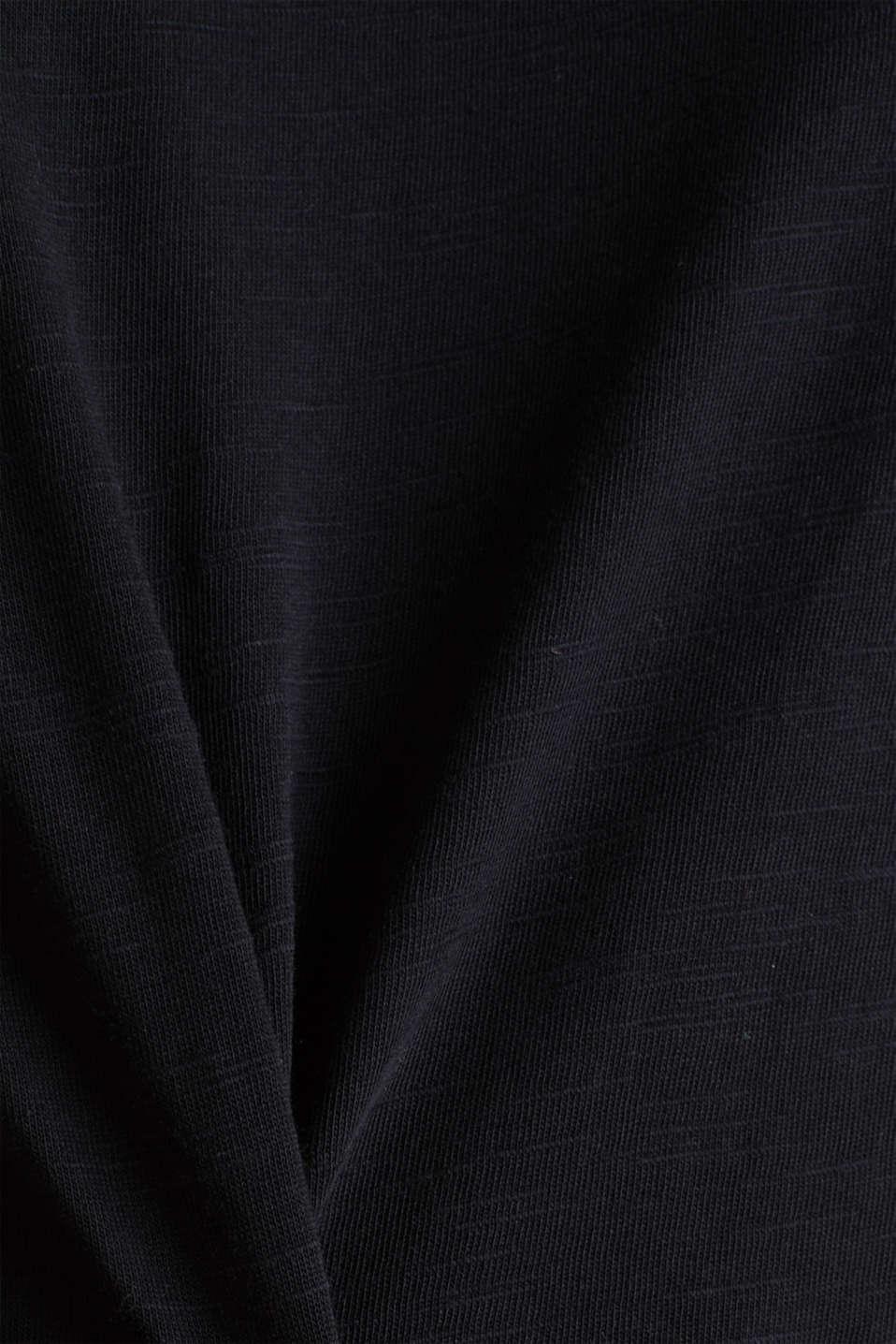 Top made of 100% organic cotton, BLACK, detail image number 4