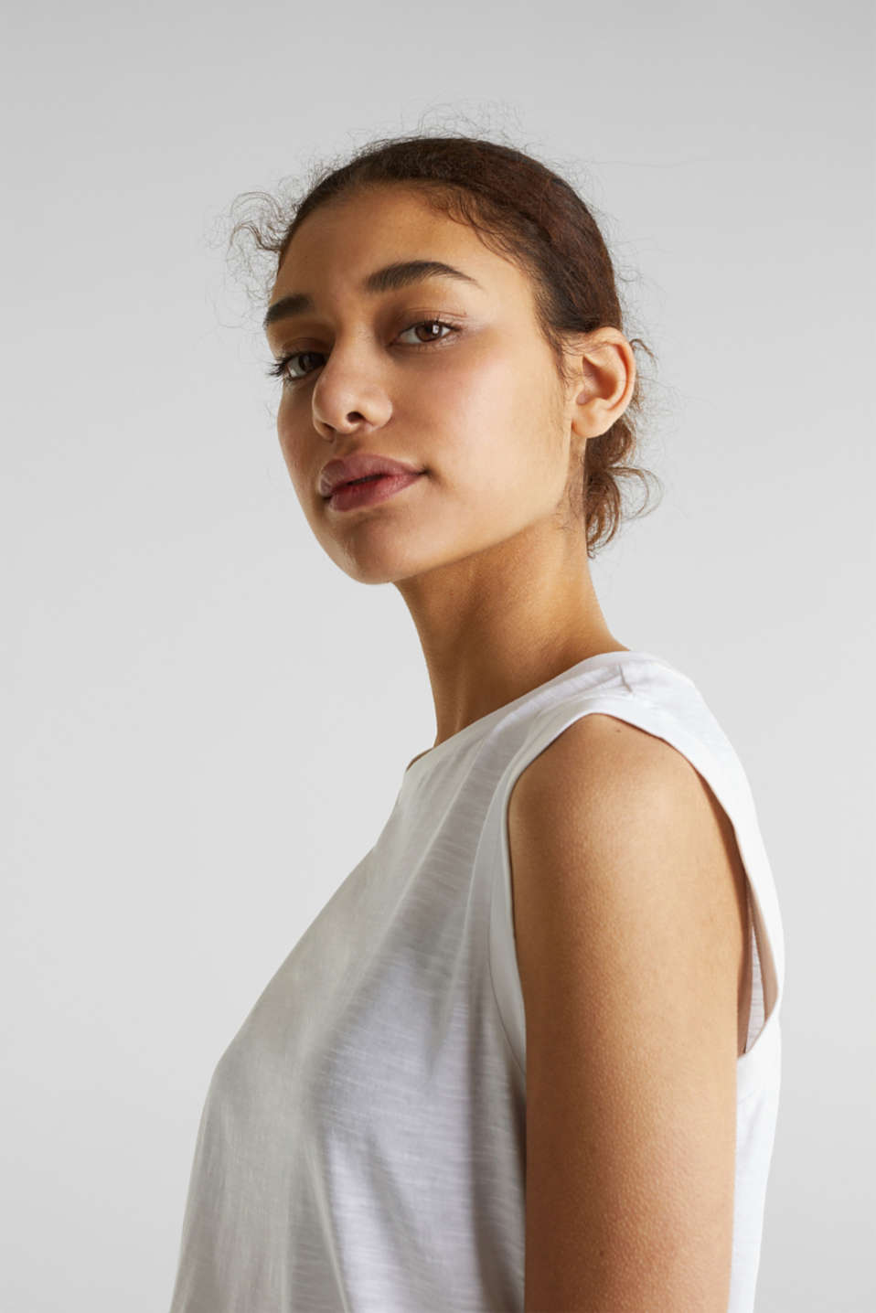 Top made of 100% organic cotton, WHITE, detail image number 6