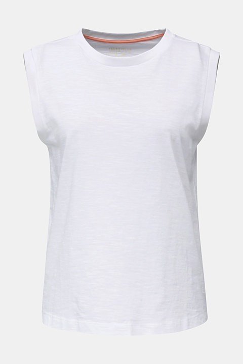 Slub jersey top, 100% organic cotton