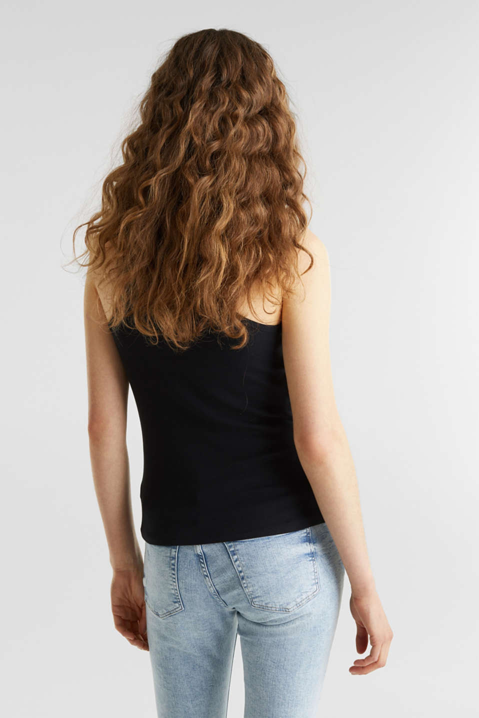 Stretch top with organic cotton, BLACK, detail image number 3
