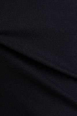Stretch top with organic cotton, BLACK, detail