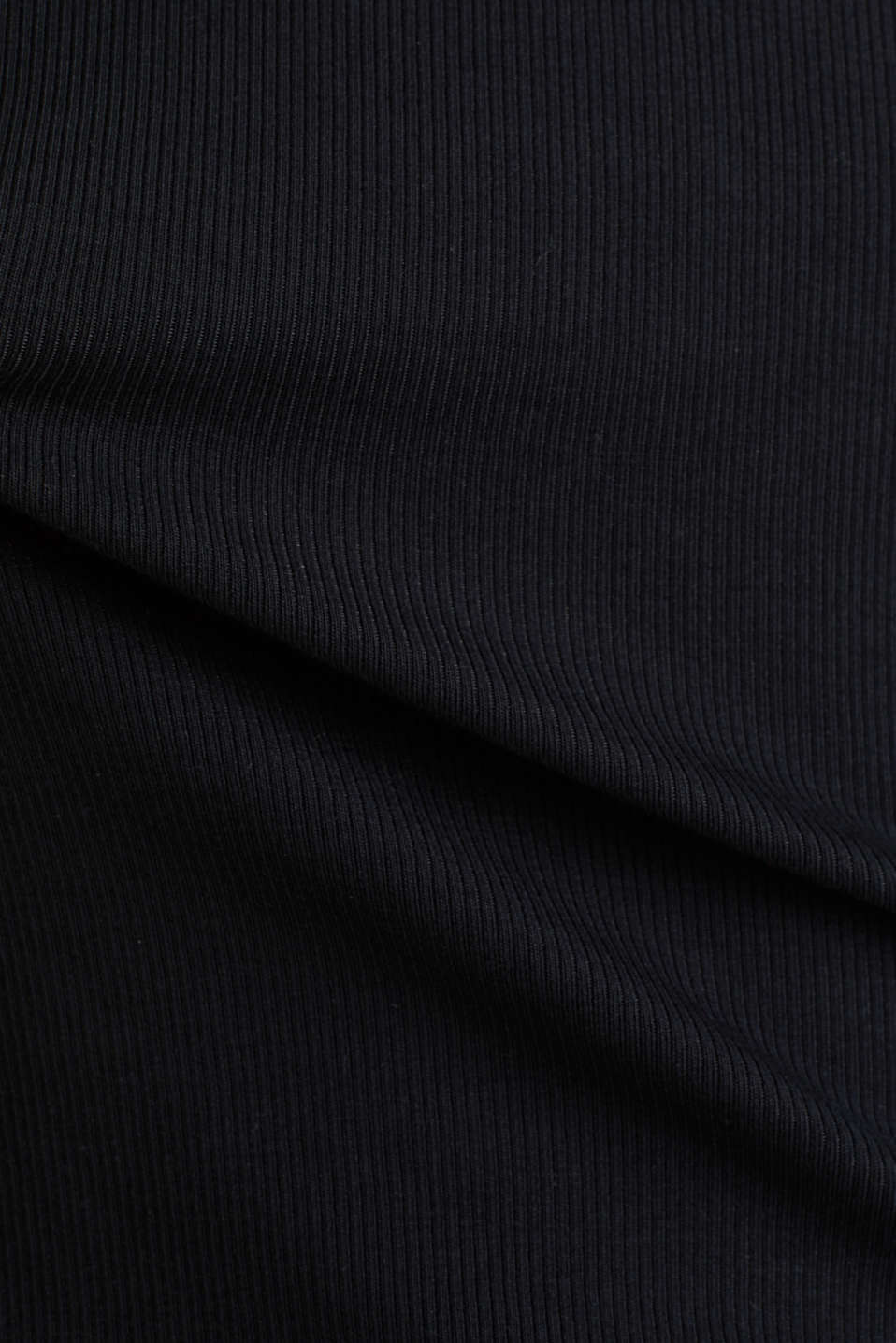 Stretch top with organic cotton, BLACK, detail image number 4