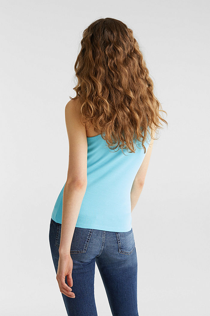 Stretch-Top mit Organic Cotton, TURQUOISE, detail image number 3