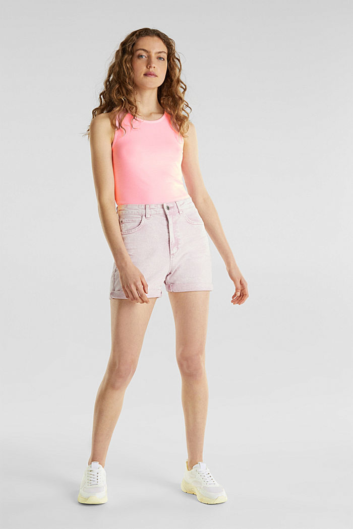 Stretch top with organic cotton, PINK, detail image number 1