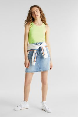 Stretch top with organic cotton, LIME YELLOW 3, detail