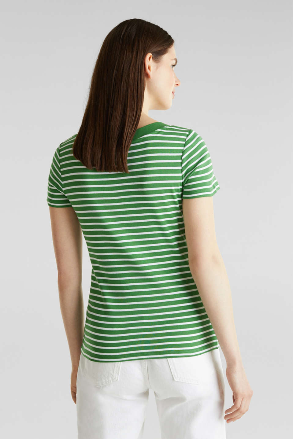 T-shirt containing organic cotton, GREEN 4, detail image number 2