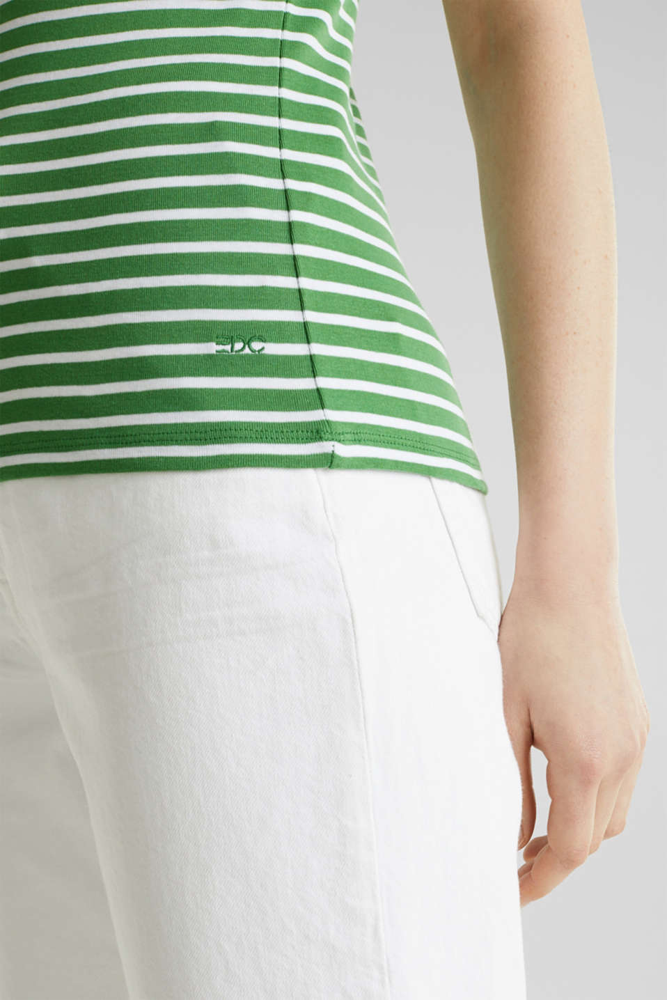 T-shirt containing organic cotton, GREEN 4, detail image number 4