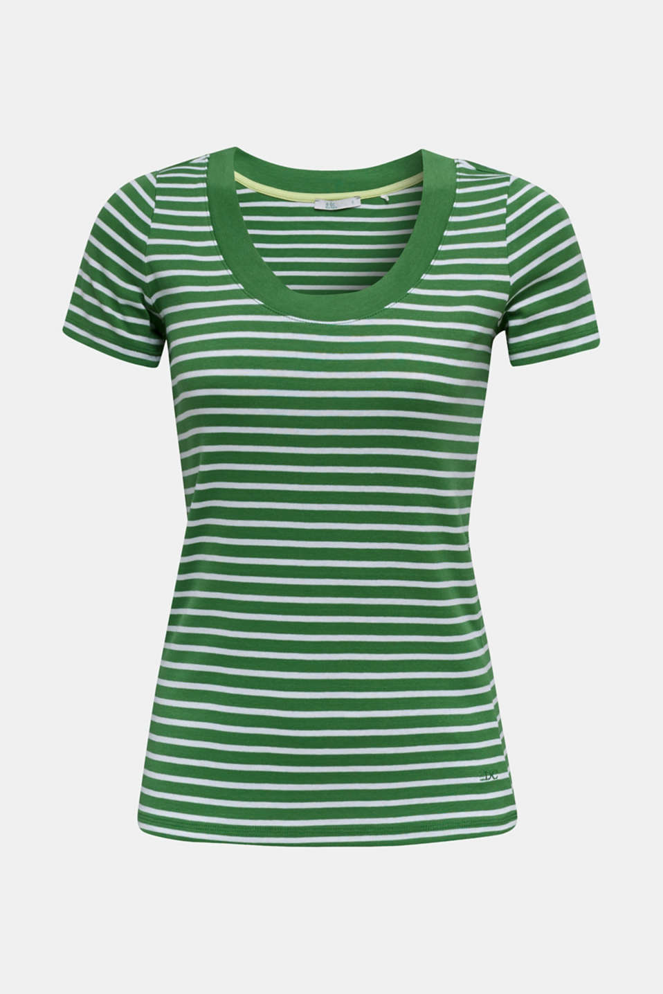 T-shirt containing organic cotton, GREEN 4, detail image number 6