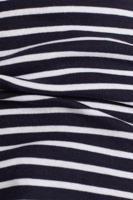 T-shirt containing organic cotton, NAVY, detail