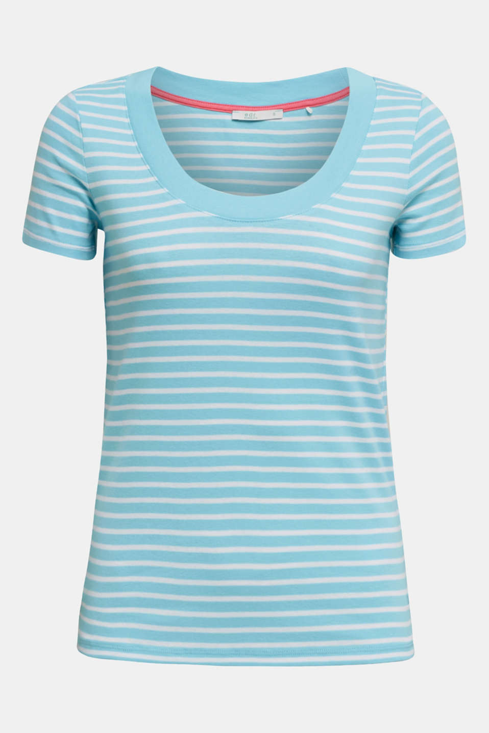 T-shirt containing organic cotton, TURQUOISE 4, detail image number 5